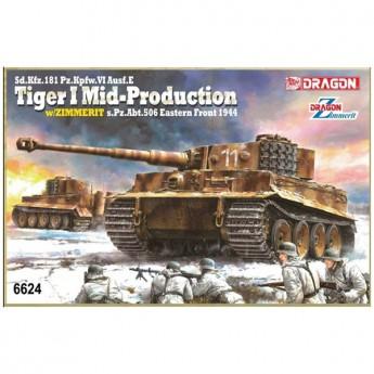 Dragon 6624 Сборная модель танка Tiger I Mid Production (1:35)