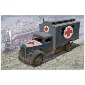 Dragon 6790 Сборная модель автомобиля Немецкий медицинский грузовик (1:35)