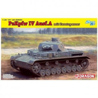 Dragon 6816 Сборная модель танка Pz.Kpfw.IV Ausf.A mit Zusatzpanzer (1:35)
