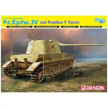 Dragon 6824 Сборная модель танка Pz.Kpfw.IV с башней PANTHER F (1:35)