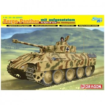 Dragon 6835 Сборная модель танка Berge-Panther mit aufgesetztem Pz.Kpfw.IV turm als Befehlspanzer (1:35)