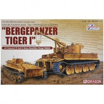 Dragon 6865 Сборная модель танка BERGEPANZER TIGER I mit BORGWARD IV (1:35)
