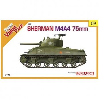 Dragon 9102 Сборная модель танка Sherman M4A4 75mm (1:35)