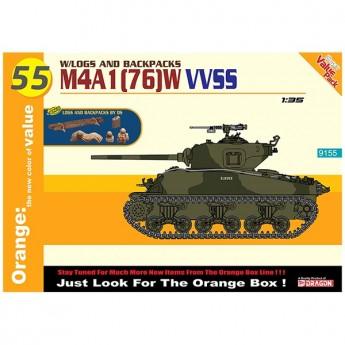 Dragon 9155 Сборная модель танка M4A1(76)W VVSS HULL (1:35)