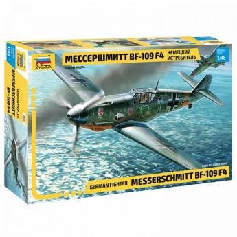 Звезда 4806 Сборная модель самолета Messerschmitt Bf109 F-4 (1:48)