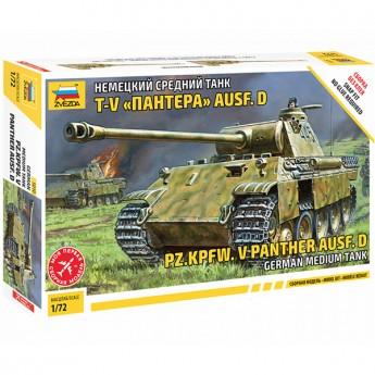 Звезда 5010 Сборная модель танка Pz.Kpfw.V Panther (1:72)