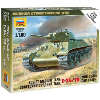 Звезда 6101 Сборная модель танка Т-34/76 (обр 1940 г) (1:100)