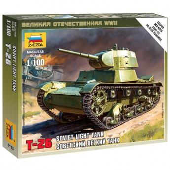 Звезда 6113 Сборная модель советского танка Т-26 (1:100)