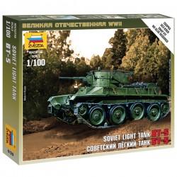 Звезда 6129 Сборная модель танка БТ-5 (1:100)