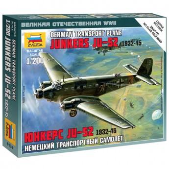 Звезда 6139 Сборная модель самолёта Ju-52 (1:200)
