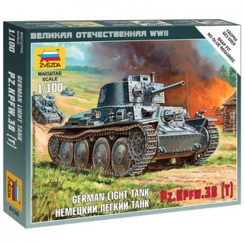 Звезда 6130 Сборная модель танка Pz.Kpfw.38(t) (1:100)