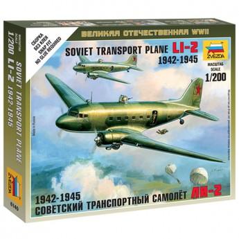 Звезда 6140 Сборная модель самолёта Ли-2 (1:200)