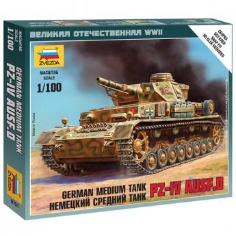Звезда 6151 Сборная модель танка Pz.Kpfw.IV (1:100)