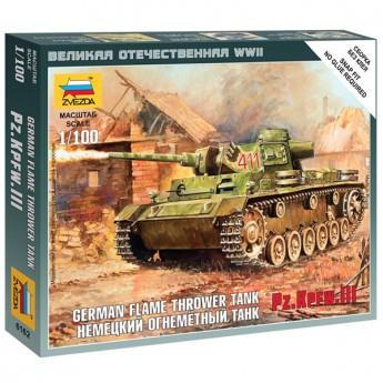 Звезда 6162 Сборная модель танка Pz.Kpfw.III огнеметный (1:100)