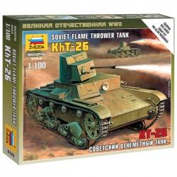 Звезда 6165 Сборная модель танка Т-26 огнеметный (1:100)