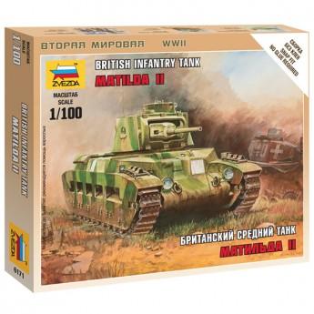 Звезда 6171 Сборная модель танка Матильда (1:100)