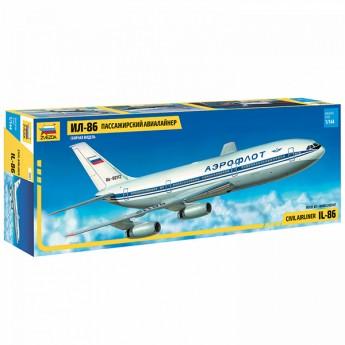 Звезда 7001 Сборная модель самолета Ил-86 (1:144)