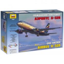 Звезда 7003 Сборная модель самолета Аэробус А-320 (1:144)