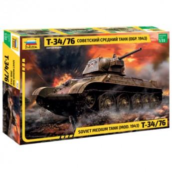 Звезда 3525 Сборная модель танка Т-34/76 (1:35)