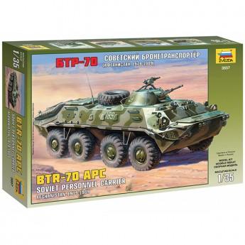 Звезда 3557 Сборная модель советского БТР-70 (Афганистан) (1:35)