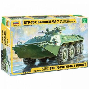 Звезда 3587 Сборная модель бронетехники БТР-70 МА-7 (1:35)