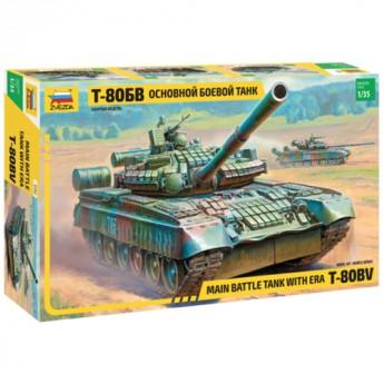 Звезда 3592 Сборная модель танка Т-80БВ (1:35)
