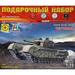 Моделист ПН307243 Сборная модель танка Черчилль. Подарочный набор (1:72)