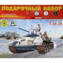 Моделист ПН307201 Сборная модель танка Т-34-76. Подарочный набор (1:72)