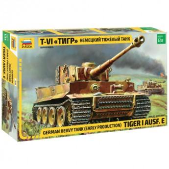 Звезда 3646 Сборная модель танка Pz.Kpfw.VI Tiger (1:35)