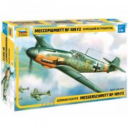 Звезда 4802 Сборная модель самолета Мессершмитт BF-109 F2 (1:48)