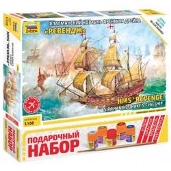 """Звезда 6500П Сборная модель корабля """"Ревендж"""". Подарочный набор (1:350)"""