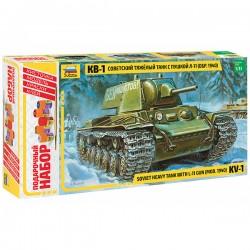 Звезда 3624П Сборная модель танка КВ-1 мод. 1940г. Подарочный набор (1:35)