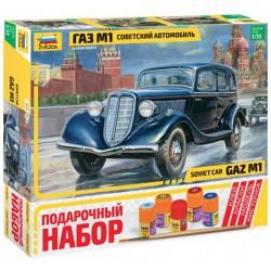 Звезда 3634П Сборная модель советского автомобиля ГАЗ М1. Подарочный набор (1:35)