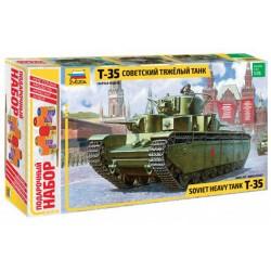 Звезда 3667П Сборная модель танка Т-35. Подарочный набор (1:35)