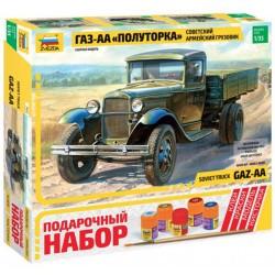 """Звезда 3602П Сборная модель грузовика ГАЗ-АА """"Полуторка"""". Подарочный набор (1:35)"""