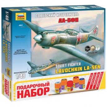 Звезда 4801П Сборная модель самолета Ла-5ФН. Подарочный набор (1:48)