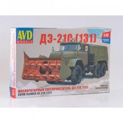 AVD Models 1292AVD Сборная модель автомобиля шнекороторный снегоочиститель ДЭ-210 (ЗИЛ-131) (1:72)