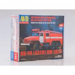 AVD Models 1300AVD Сборная модель автомобиля пожарного АЦ-40 (4320) ПМ-102В (1:43)