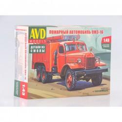 AVD Models 1327AVD Сборная модель автомобиля пожарного ПМЗ-16 (1:43)