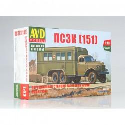 AVD Models 1340AVD Сборная модель автомобиля передвижная станция заготовки крови ПСЗК (151) (1:43)