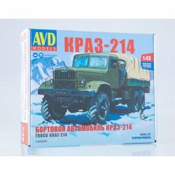 AVD Models 1343AVD Сборная модель автомобиля бортовой КРАЗ-214 (1:43)