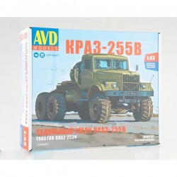 AVD Models 1346AVD Сборная модель автомобиля cедельный тягач КРАЗ-255В (1:43)