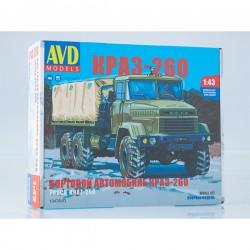 AVD Models 1347AVD Сборная модель автомобиля бортовой КРАЗ-260 (поздний) (1:43)