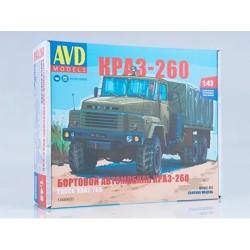AVD Models 1348AVD Сборная модель автомобиля бортовой КРАЗ-260 (ранний) (1:43)