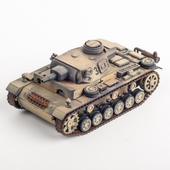 Panzerstahl 88028 Готовая модель танка Panzer III Ausf. N Немецкий Африканский корпус 1943 г (1:72)