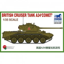 Bronco Models CB35010SP Сборная модель танка British Cruiser Tank A34 Comet (1:35)