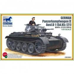 Bronco Models CB35061 Сборная модель танка PanzerKampfwagen II Ausf.D1 (1:35)