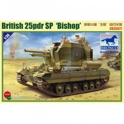 Bronco Models CB35077 Сборная модель САУ British 25pdr SP Bishop (1:35)
