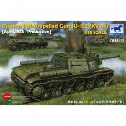 Bronco Models CB35113 Сборная модель САУ Self-Propelled Gun SU-152 (KV-14) April 1943 (early) (1:35)