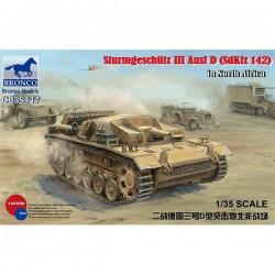 Bronco Models CB35117 Сборная модель САУ Sturmgeschutz III Ausf D (SdKfz 142) in North Africa (1:35)